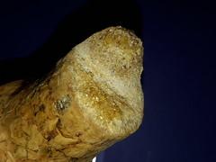 Cristalli sul tappo di sughero del vino