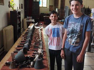Iwan and Cameron look at handbells from 1870