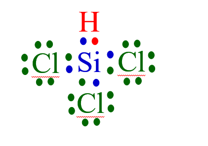 Can someone please do the Lewis Dot structure for SiHCl3 ...