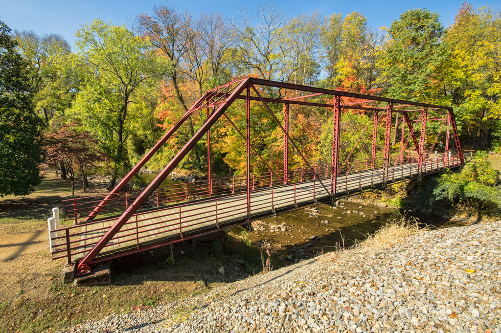 Pedestrian bridge across Spring Creek