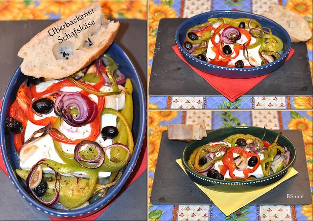 Farbenfroh speisen: Überbackener Schafskäse und allerlei Buntes vom Lieblings-Türken ... Fotos: Brigitte Stolle 2016