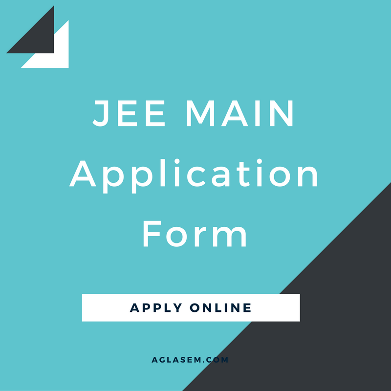 JEE Main Application Form 2017