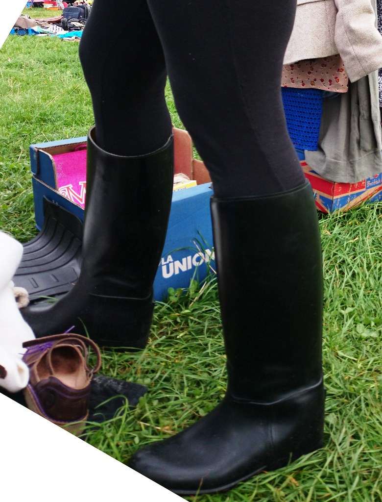 Rubber riding boots and leggings | Street Boots & Leather | Flickr