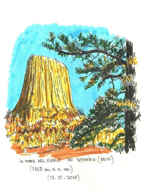 La torre del Diablo (1.558 m.s.n.m.)