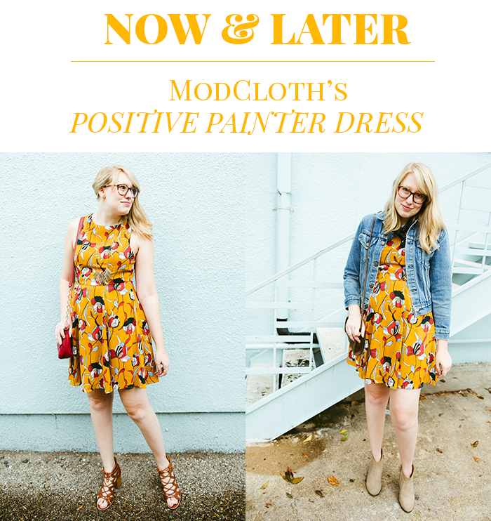 styling ModCloth Positive Painter Dress for summer and fall