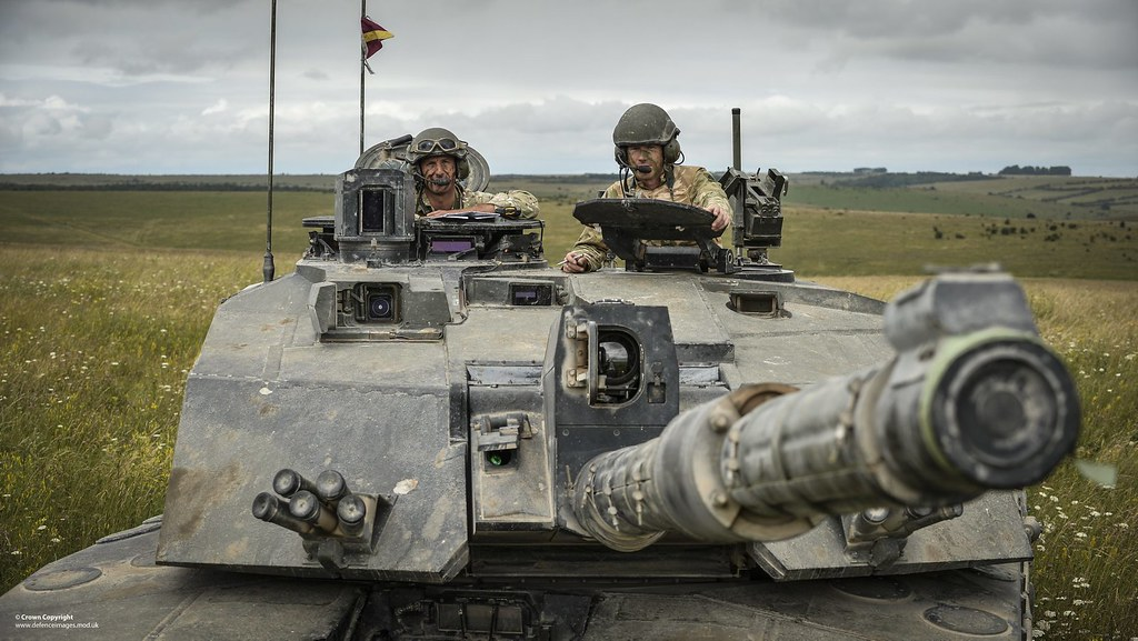 Challenger 2 Tank On Salisbury Plain Soldiers Of The