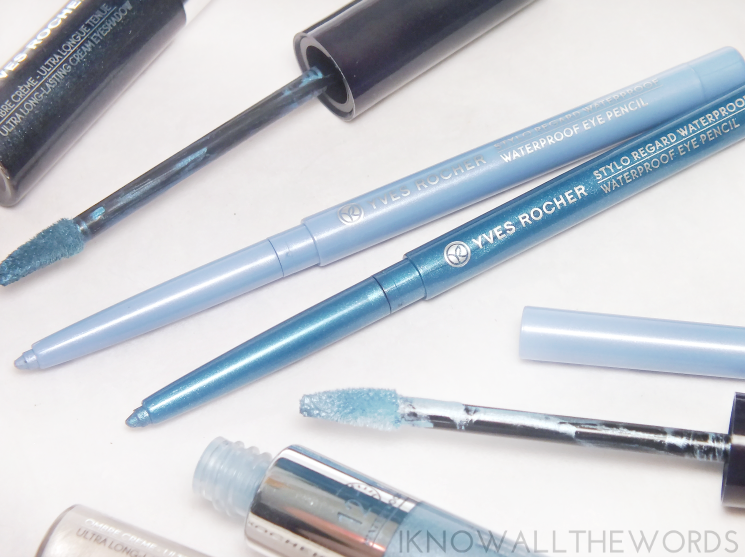 yves rocher summer creation waterproof eye pencil  aqua bue and ocean blue (2)