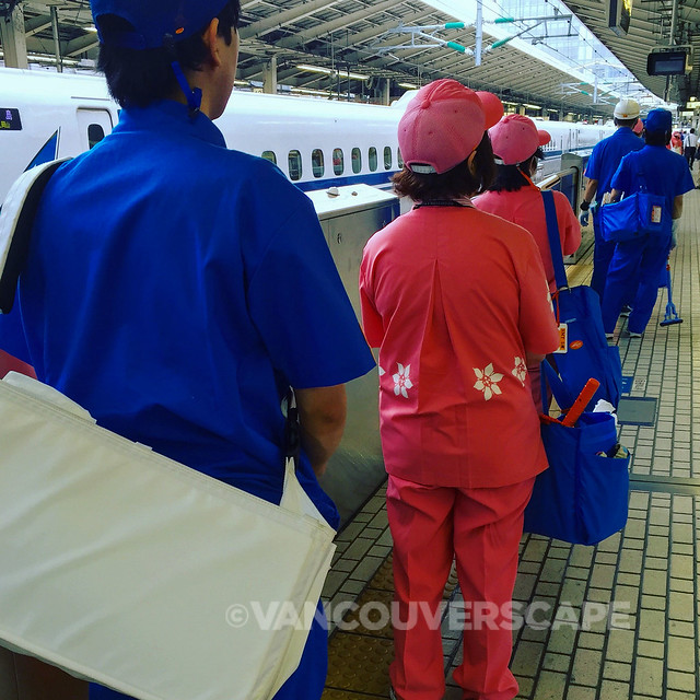 Train cleaning crew
