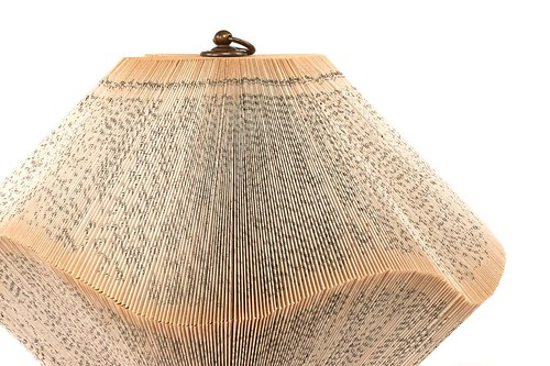 Lantern Folded Book Sculpture by Crizu - Detail