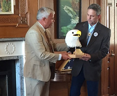 Chad Karges, the Service'ss project leader at Malheur National Wildlife Refuge, was honored by the National Wildlife Refuge Association with their Theodore Roosevelt Lifetime Achievement Award.