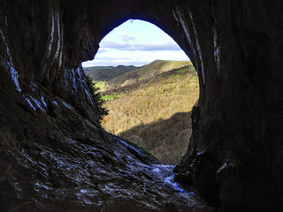 Looking out from inside Thor's Cave