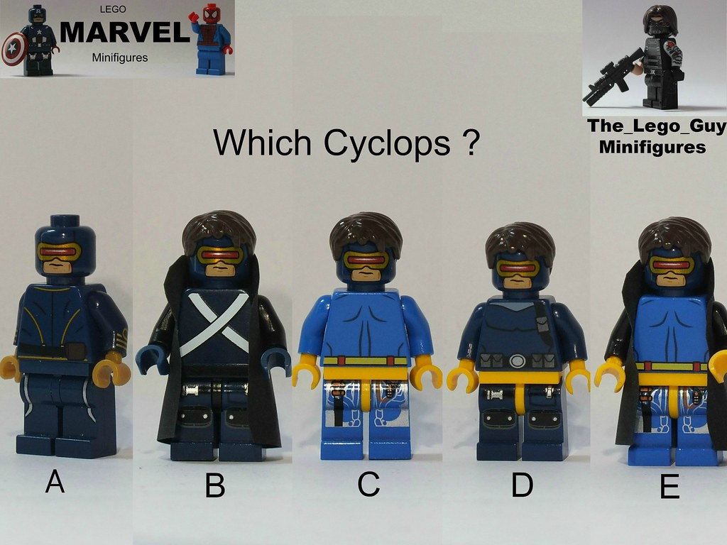 marvel which cyclops yeah i bet youre really