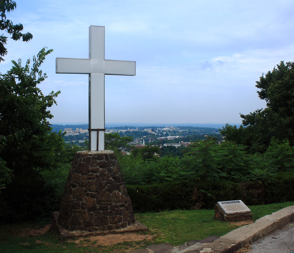 Fayetteville Arkansas: Overlooking Fayetteville From Cross On Mount Sequoyah