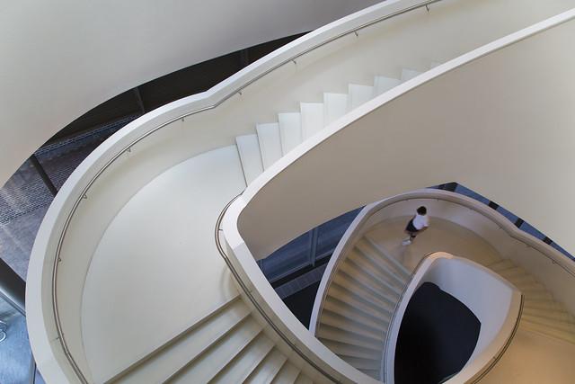 Stedelijk Museum Den Bosch - spectacular staircase by Bierman Henket architecten