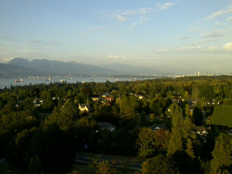 View of Vancouver Harbor, from the 17th floor of the Walter Gage Student Residence, UBC (Photo by Tom Worthington, CC-By 2.0 2014)
