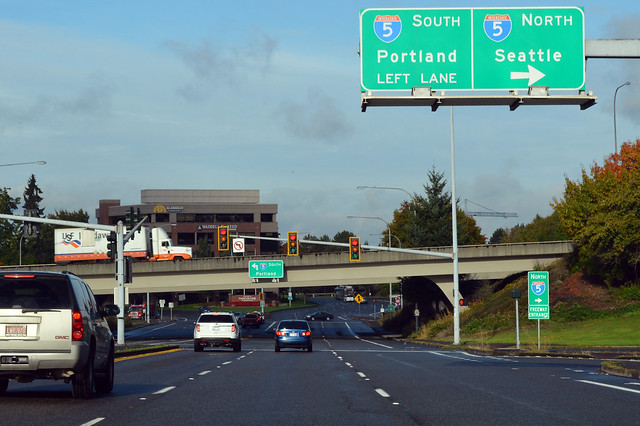 SR 501 @ I-5 southward