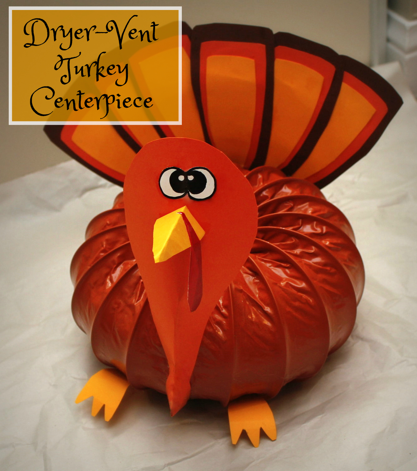 Dryer-Vent Turkey Centerpiece