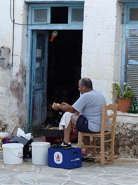 la corvée de patates à Halki