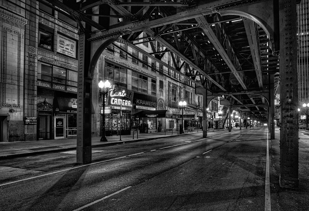 Early Morning Under The L Tracks Alan Amati Flickr