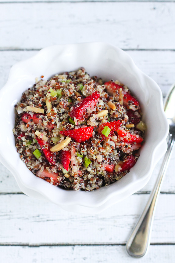 Strawberry and Quinoa Salad with Toasted Almonds…A fresh summer side ...