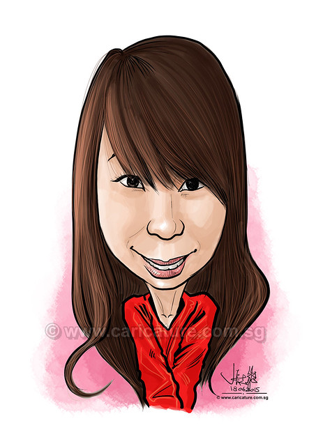 girl digital caricature 17062015 (watermarked)