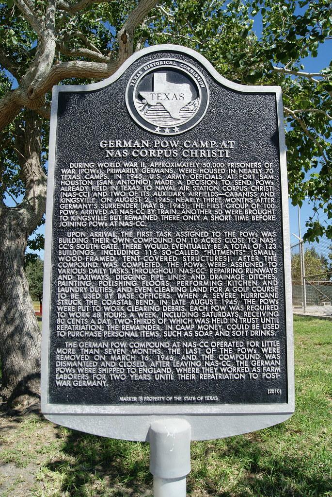 German Pow Camp At Nas Corpus Christi During World War