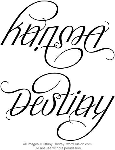karma destiny ambigram a custom ambigram of the word flickr. Black Bedroom Furniture Sets. Home Design Ideas