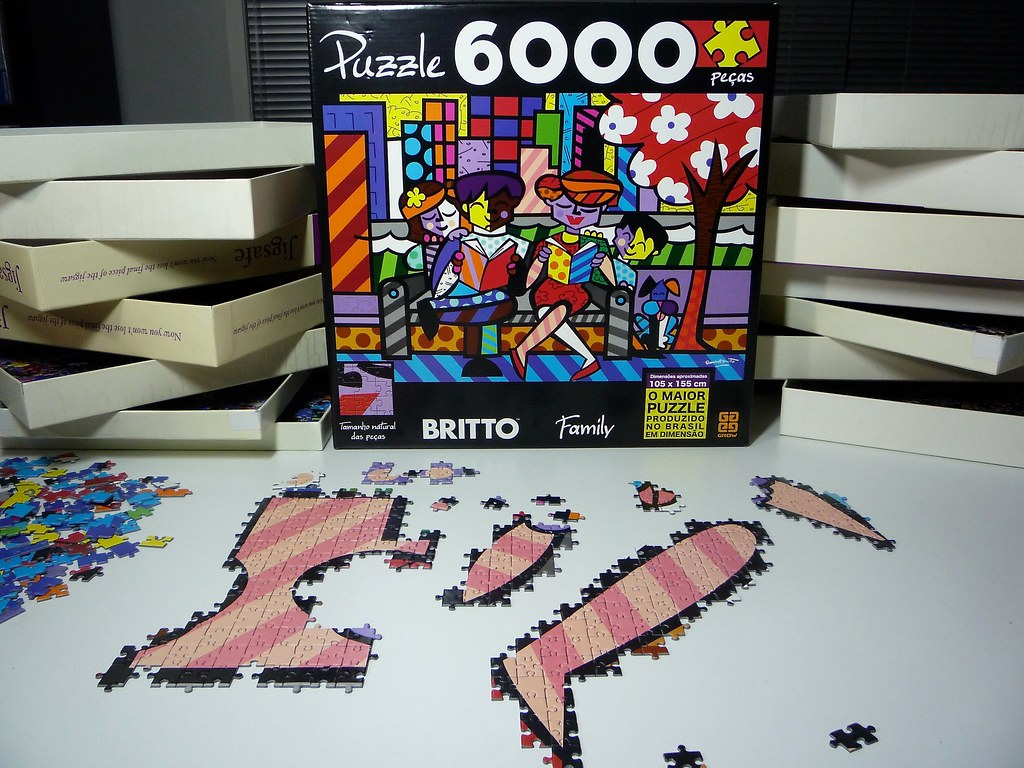 family britto grow puzzle 6000 pieces thought i. Black Bedroom Furniture Sets. Home Design Ideas