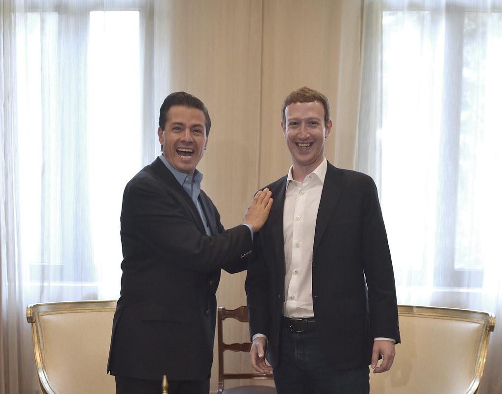 Mark Zuckerberg y Peña Nieto