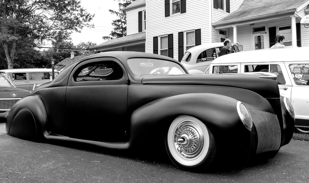 Chopped Low Rider 1940 Lincoln Zephyr Coupe Voodoo Kings