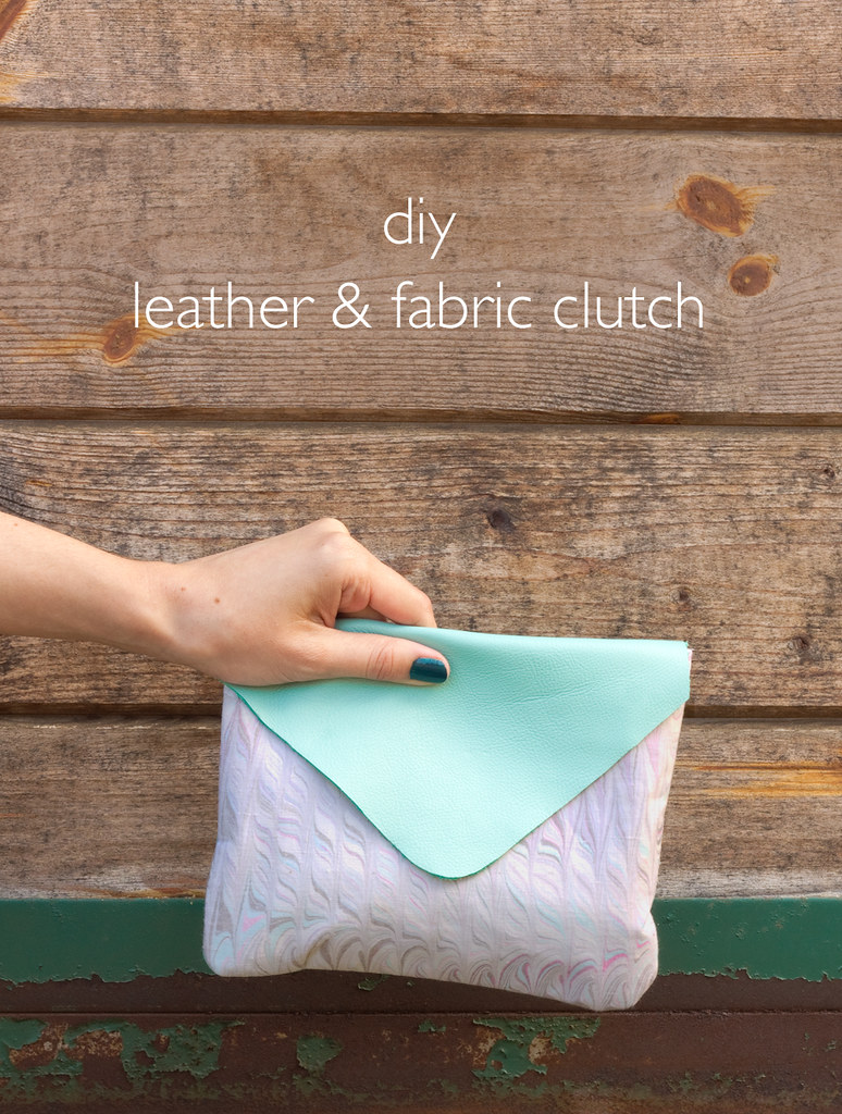 DIY Leather & Marbled Fabric Clutch | click through for the tutorial!
