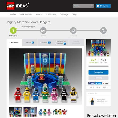 Mighty Morphin Power Rangers LEGO Ideas Project
