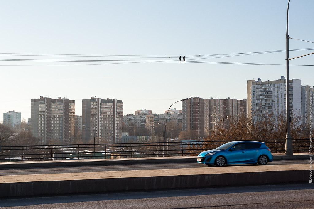 Каширское шоссе и вид на Орехово-Борисово