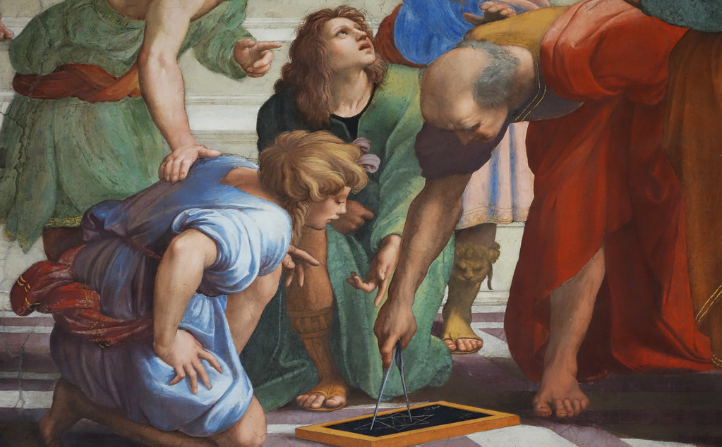 Raphael Euclid And His Students Raphael School Of