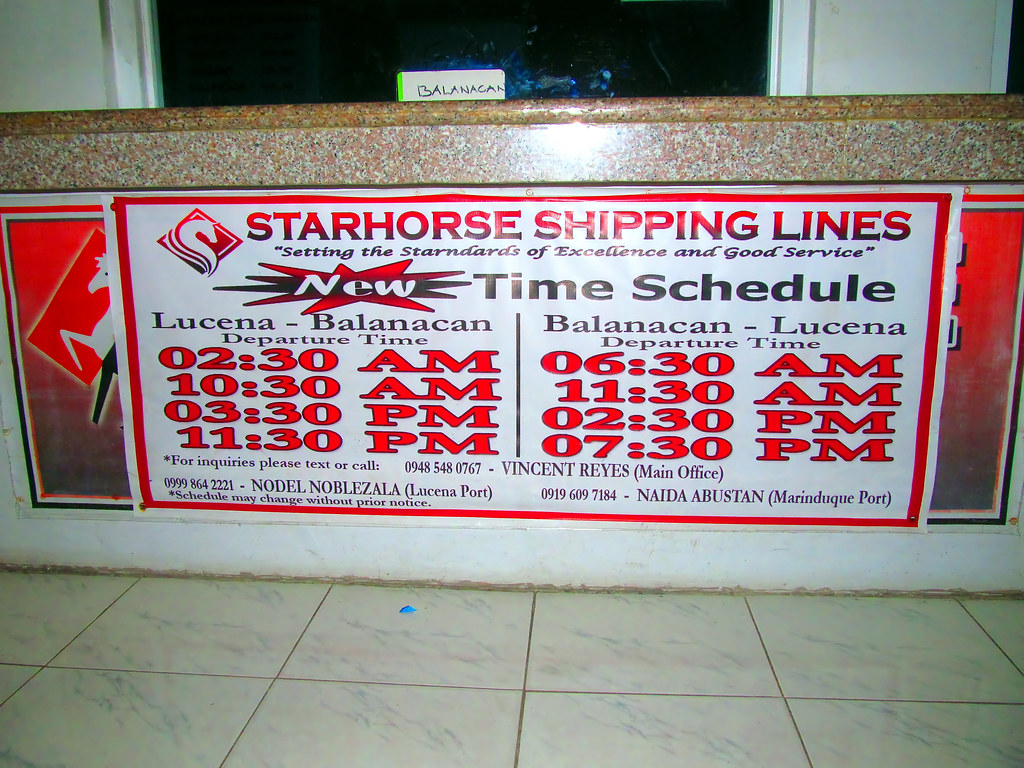Ic Free Shipping >> Starhorse Shipping Lines Schedule of Trips   Their New ...