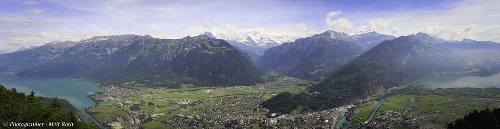Panorama of Interlaken from harder kulm