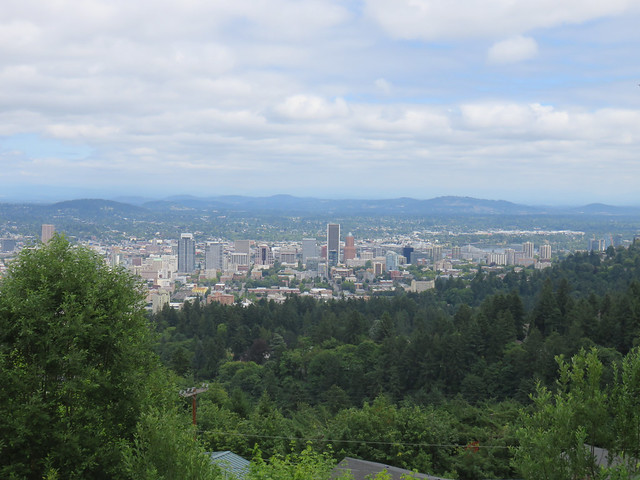 View of Portland from Pittock Mansion