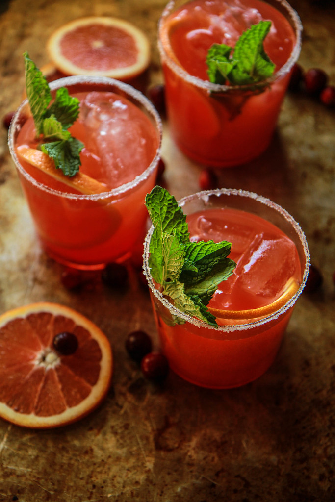 Blood Orange Tequila Mint Fizz from HeatherChristo.com