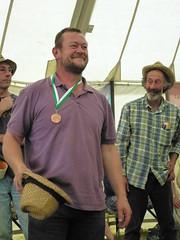Stuart Aylett, scythe champ