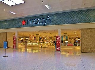 Macy's main mall entrance