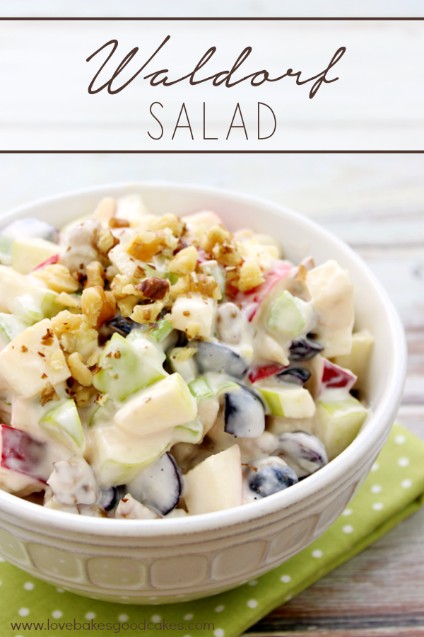 Waldorf Salad in a bowl.
