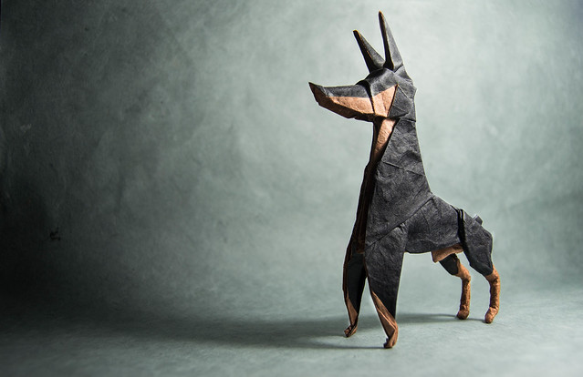 DIY German shepherd papercraft trophy, perfect for your wall decor ... | 414x639