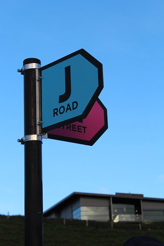 Street signs at the Fieldays