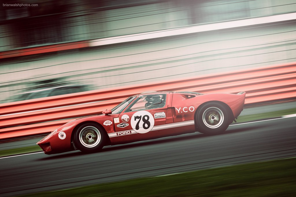 ford gt40 at brooklands on the silverstone grand prix circ flickr. Black Bedroom Furniture Sets. Home Design Ideas