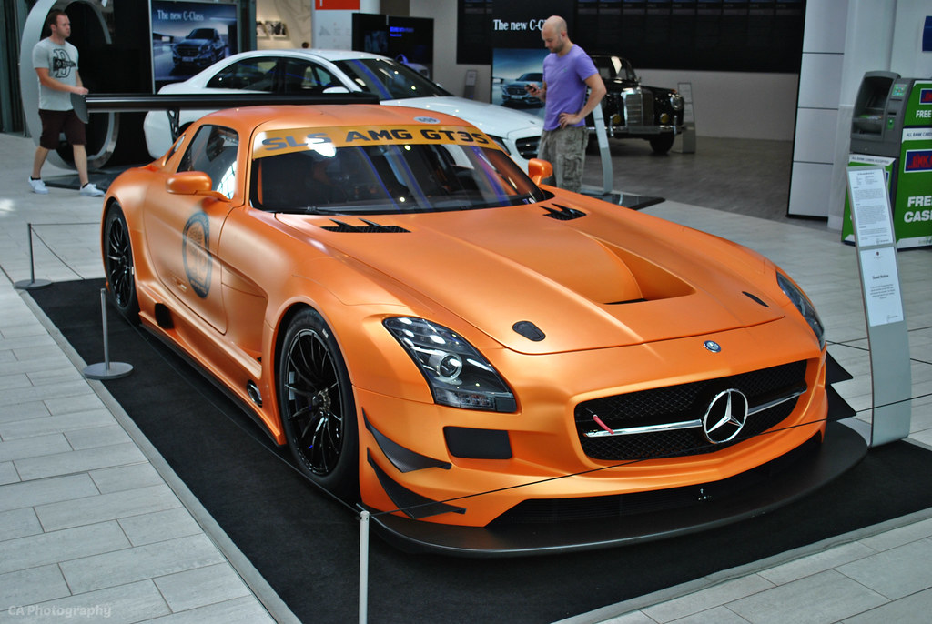 mercedes benz sls amg gt3 s on display inside mercedes. Black Bedroom Furniture Sets. Home Design Ideas