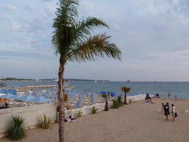 Playas de Cannes (Costa Azul, Francia)