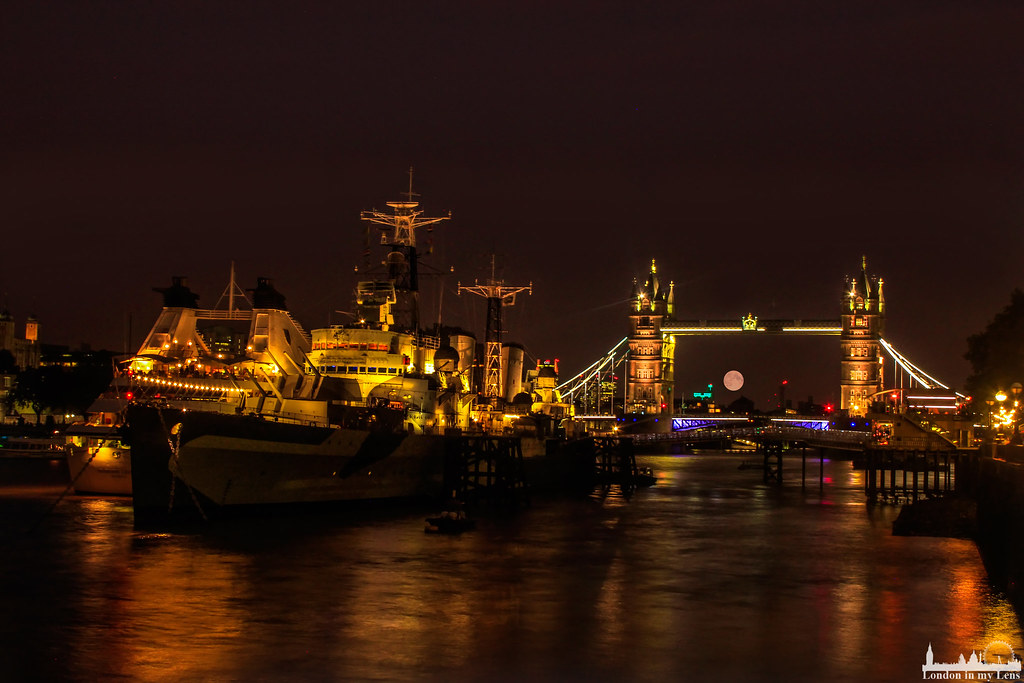 Tower Bridge supermoon
