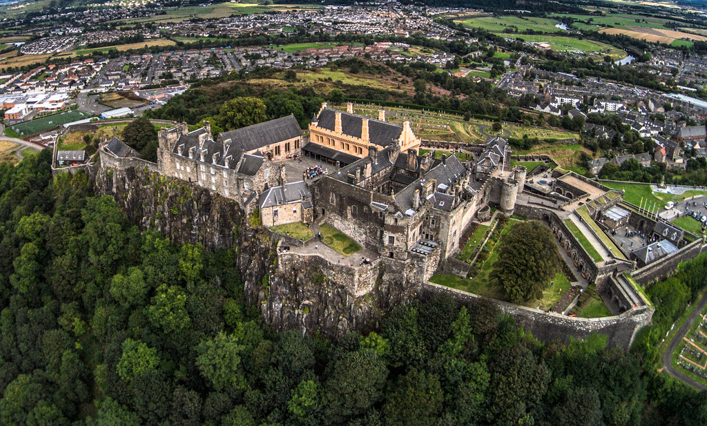 Stirling Castle from the air