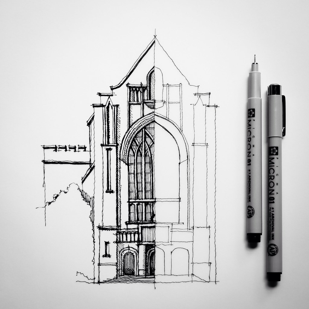 Half Sketch Drawing Architecture Dan Hogman Flickr