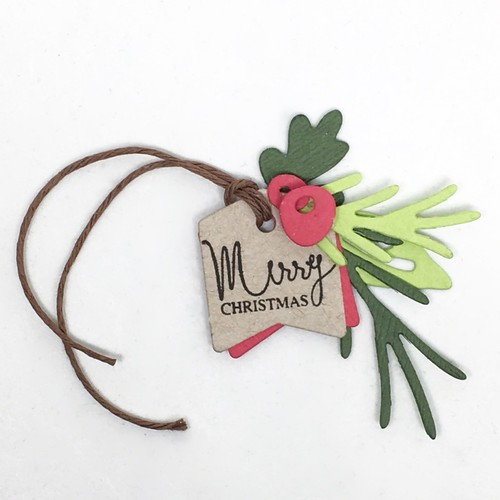 Mini messages Christmas tag